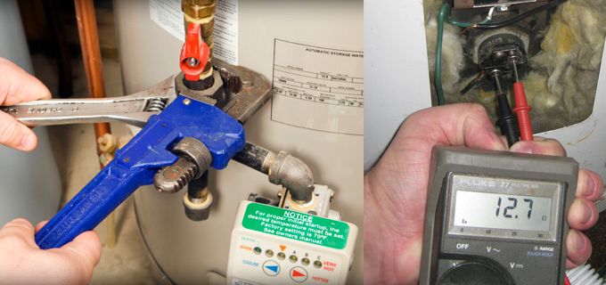 Gas and Electric Water Heater Rpair