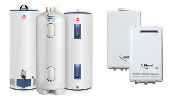 Rheem Water Heaters and Rinnai Tankless Water Heaters